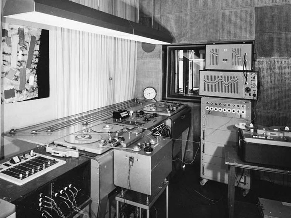 WDR Electronic Music Studio in 1966
